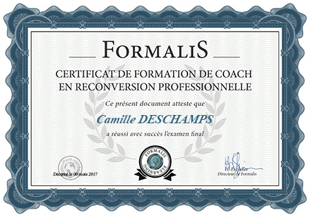 certificat de formation de coach en reconversion professionnelle