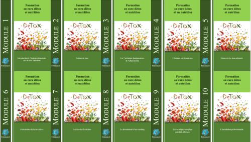 nutrition et cure detox, les 10 modules de la formation