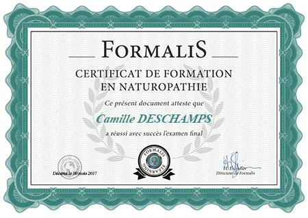 certificat de formation en naturopathie