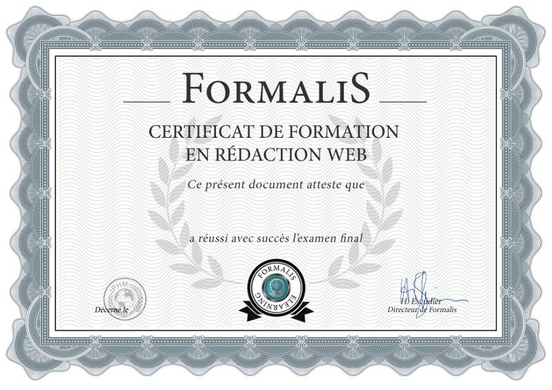certificat formation en ligne rédaction web