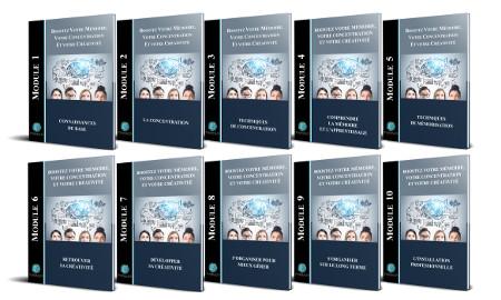Modules pdf formation boostez votre mémoire, concentration et créativité