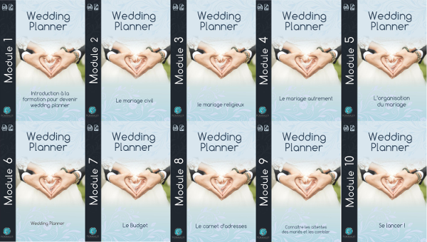 Modules PDF formation en ligne wedding planner