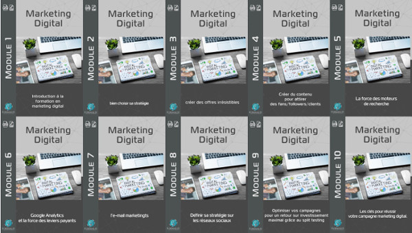 Modules formation marketing digital