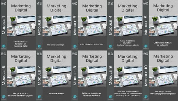 Modules formation marketing digital