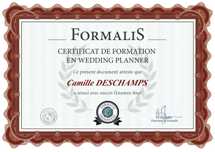 certificat formation wedding planner