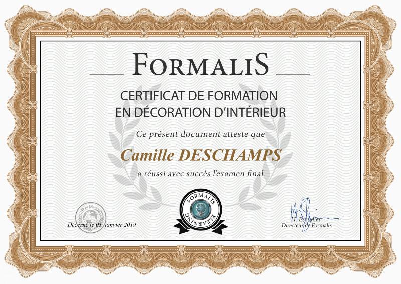 certificat formation décoration intérieure