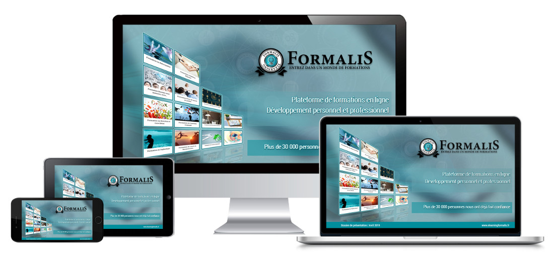 plateforme formations contenu responsive