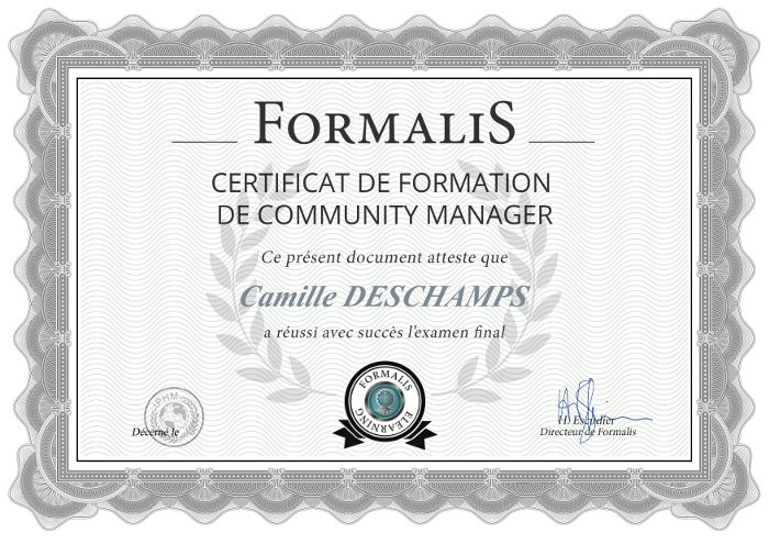 certificat formation community manager