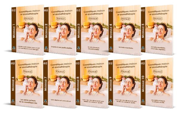 Modules formation en ligne cosmétiques maison & aromathérapie