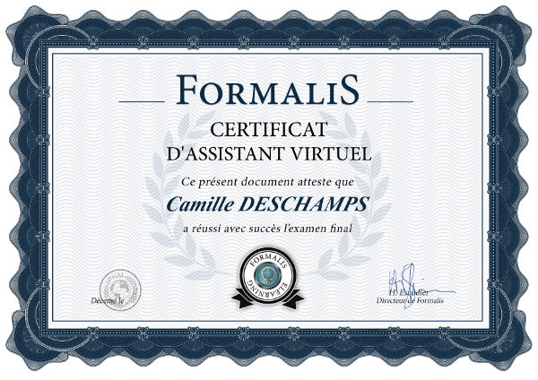certificat formation assistant virtuel