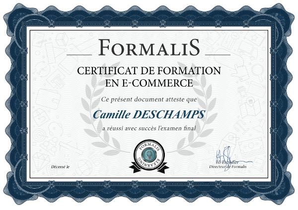 certificat formation e-commerce boutique en ligne