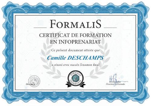 certificat formation infopreneur