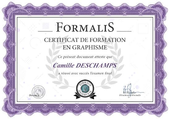 certificat formation graphiste