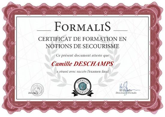 certificat formation les gestes qui sauvent