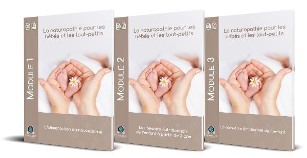 3 modules la naturopathie pour les bébés et tout petits